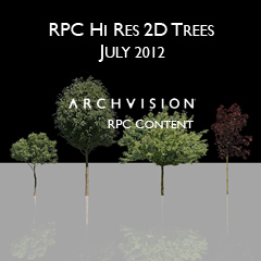 ArchVision RPC Content: July Trees Additions - ARCHVISION