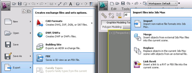 Revit 2013 to 3ds Max 2013 Interoperability for RPC Content