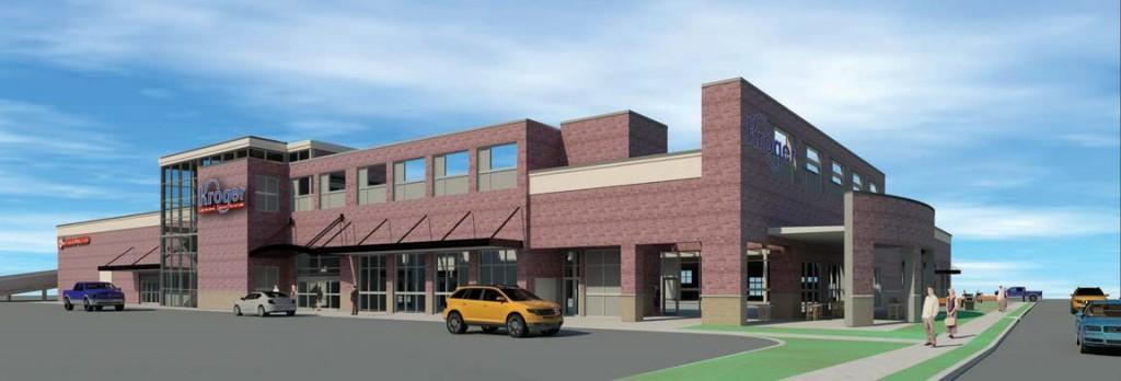 Kroger rendering, Euclid Ave, Lexington, KY.  Image courtesy The Kroger Co.