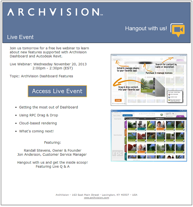 Live Webinar 11-20-2013